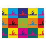 Schwimmen-Pop-Kunst Karten