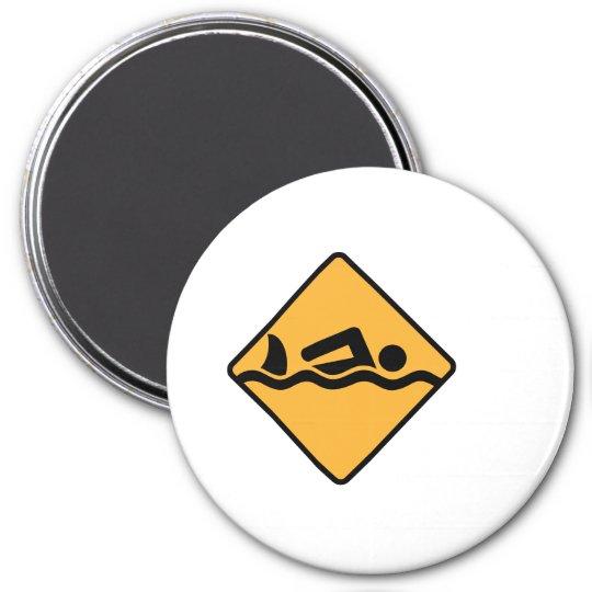 Schwimmen Runder Magnet 7,6 Cm