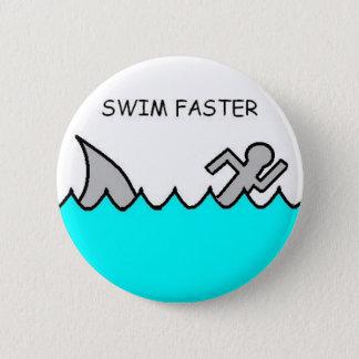 Schwimmen schneller runder button 5,7 cm