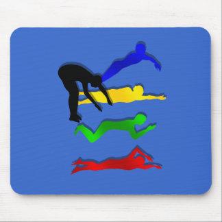 Schwimmen-Schwimmer-Wasser-Sport-Schwimmen Mousepads