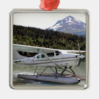 Schwimmen Sie Flugzeug, Trailsee, Alaska 3 Silbernes Ornament