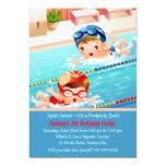 Schwimmen Tots Pool-Party Einladung