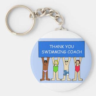 Schwimmen-Trainer-Dank Schlüsselanhänger