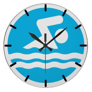 Schwimmen-Uhr für das Pool oder das Büro des Große Wanduhr