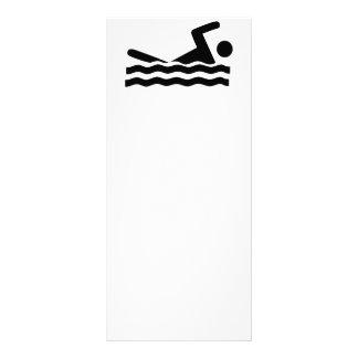 Schwimmen-Wassersportwelle des Schwimmers Werbekarte