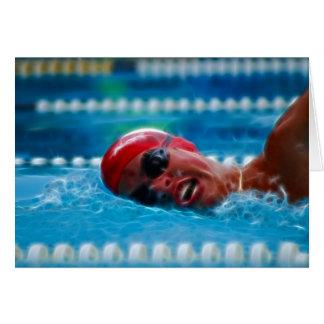 Schwimmen, zum des Wettbewerbs zu gewinnen Karte