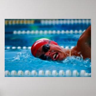 Schwimmen, zum des Wettbewerbs zu gewinnen Poster