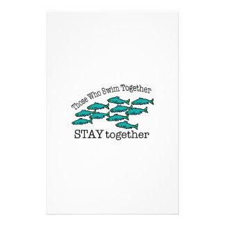 Schwimmen zusammen briefpapier