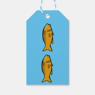 schwimmende Fische Geschenkanhänger
