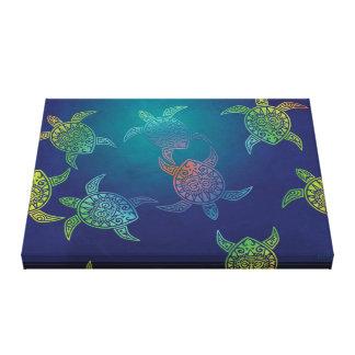 Schwimmende Schildkröten Leinwanddruck