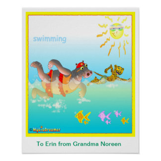Schwimmenplakat Plakate
