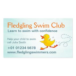 Schwimmenverein-Schwimmen-Lehrer-Visitenkarte