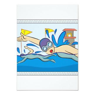 Schwimmer, die im Pool laufen Karte