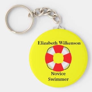 Schwimmweste Zubehör-Name-Schwimmen Fähigkeit Standard Runder Schlüsselanhänger