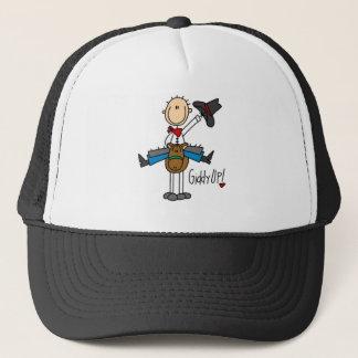 Schwindlige hohe Cowboyt-shirts und -geschenke Truckerkappe