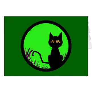 Schwindlige Mond-Katze Karte