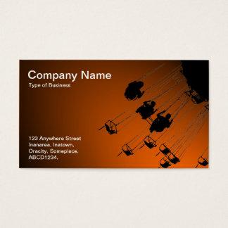 Schwingen und Karussells - Spotlit Orange Visitenkarte