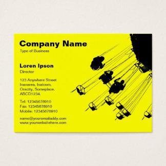 Schwingen und Karussells v2 - Gelb Visitenkarte