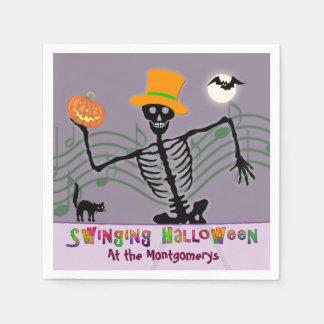 SchwingHalloween-Party-Skelett Papierserviette