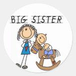 Schwingpferdegroße Schwester-T - Shirts und Runder Sticker