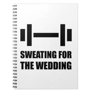 Schwitzen für die Hochzeit Notizblock