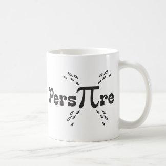 Schwitzen Sie PU-Tag - lustiges PU-Slogan-Geschenk Kaffeetasse