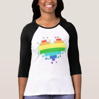 Schwul Heart 8 Bit T-Shirt