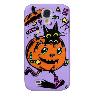 Schwungvoller Kürbis und Miezekatze Halloween Galaxy S4 Hülle