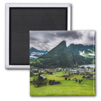 Schwyz Tal und Lauerzersee Quadratischer Magnet
