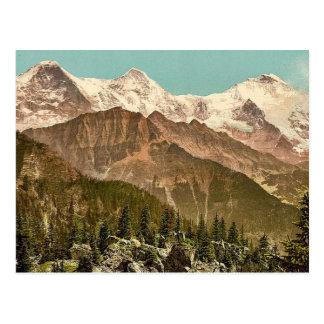 Schynige Platte, Eiger, Monch und Jungfrau, Bernes Postkarte