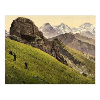 Schynige Platte, Gummihorn, Eiger, Monch und Jungf Postkarte
