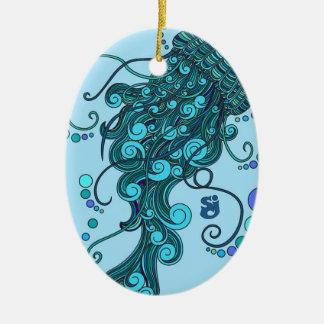 SCI - Quallen - Schnur-Käse-Vorfall - Tequilla Keramik Ornament