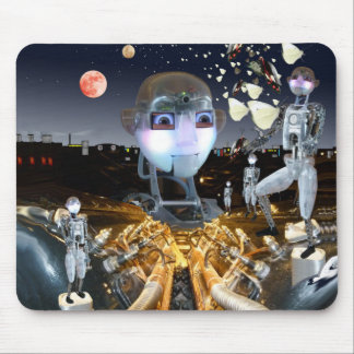 Science Fictionroboter-Schmetterlingsthema Mousepad