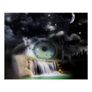 Sciencefiction-Auge Plakate