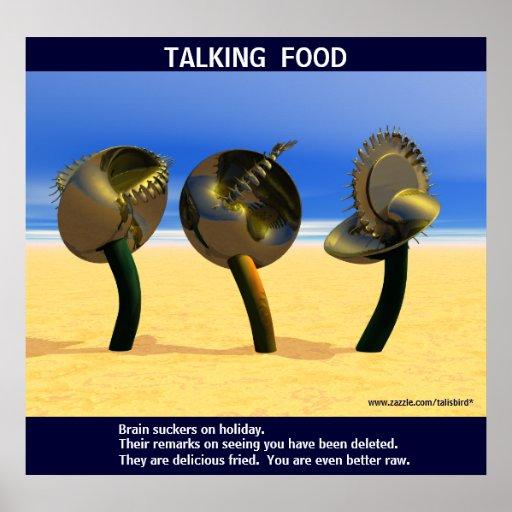 Sciencefiction, die Nahrung spricht Plakate