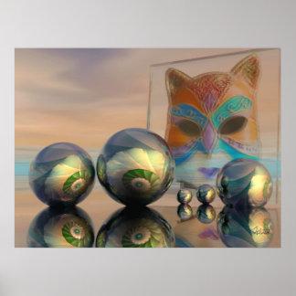 """Sciencefiction/Fantasieplakat """"die Katzenwelt """" Plakatdruck"""