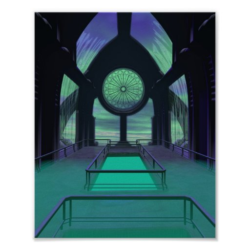 Sciencefiction-Kathedrale Poster