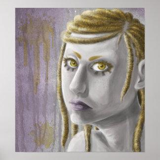 Sciencefiction-Mädchen Posterdrucke