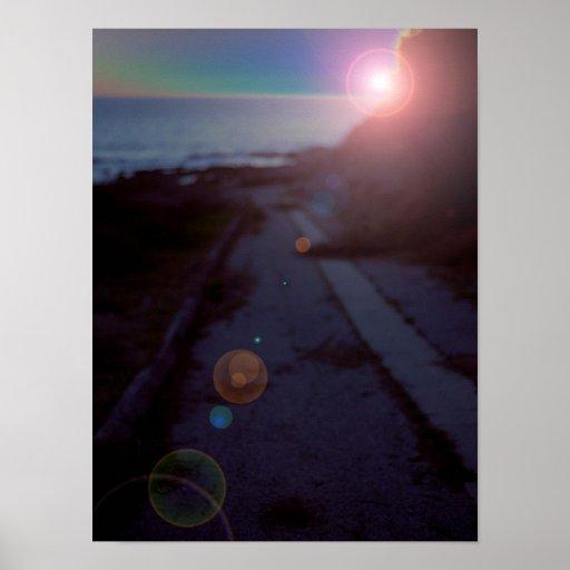 Sciencefiction-Sonnenuntergang-San- PedroGezeiten- Plakatdruck