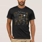 Sciencefiction Streetwear Menschlich-Computer T-Shirt