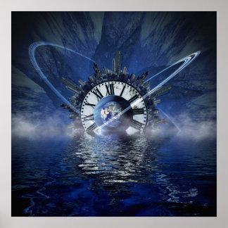 Sciencefiction-Zeit-Spritzen Poster