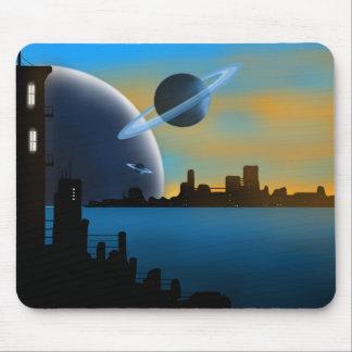 SciFi-Stadt Mousepad