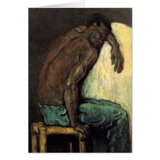 Scipio der Schwarze durch Paul Cezanne Grußkarte