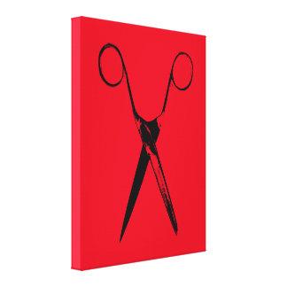Scissors - black leinwanddruck