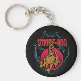 Scooby-Doo, das von den Geistern grafisch läuft Standard Runder Schlüsselanhänger