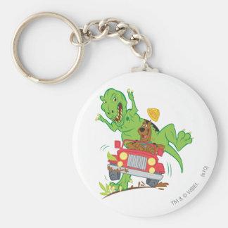 Scooby Doo Dinosaurier Attack1 Standard Runder Schlüsselanhänger