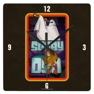 Scooby-Doo   Geist-Suchen Shaggy u. Scooby Quadratische Wanduhr