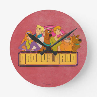 "Scooby-Doo   ""Groovy Gruppen-"" Retro Runde Wanduhr"