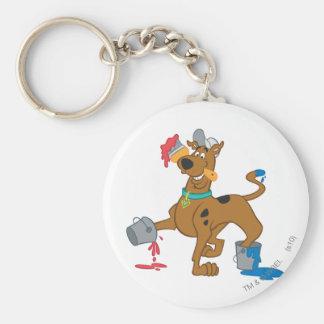 Scooby Doo Paint3 Standard Runder Schlüsselanhänger