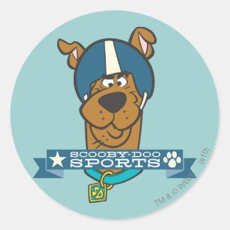 """Scooby Doo """"Scooby-Doo trägt """" zur Schau Runder Aufkleber"""